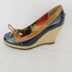 MILLY SPERRY TOP SIDER wedge shoes sz 6